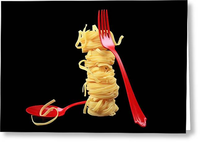 Noodles-Pasta Greeting Card by Manfred Lutzius
