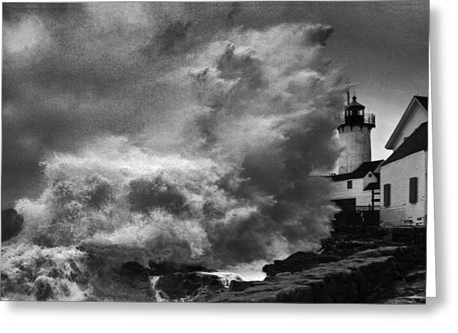 New England Ocean Greeting Cards - Nor Easter Greeting Card by Martin Kahn