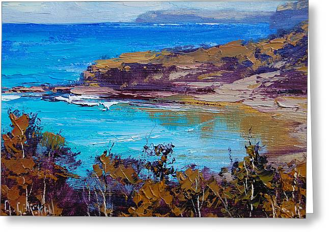 Sand Dunes Paintings Greeting Cards - Norah Head Central Coast NSW Greeting Card by Graham Gercken