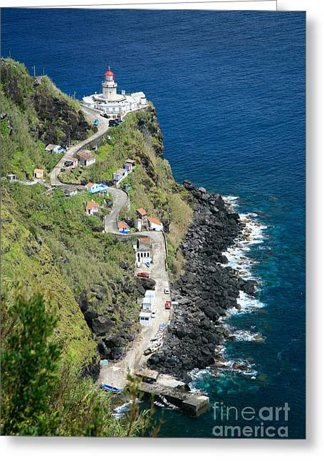 Climbing In Greeting Cards - Nordeste lighthouse - Azores Greeting Card by Gaspar Avila