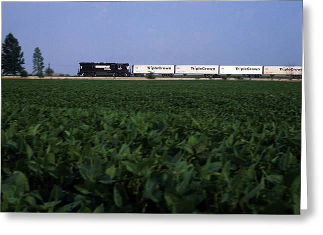 Norfolk Southern Midwest Greeting Card by Susan  Benson
