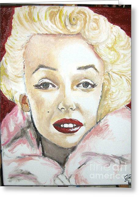 Norma Jean Paintings Greeting Cards - Norma Jean Greeting Card by Bobbi West