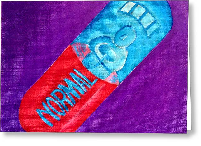 Medication Paintings Greeting Cards - Normal Greeting Card by Darren Stein