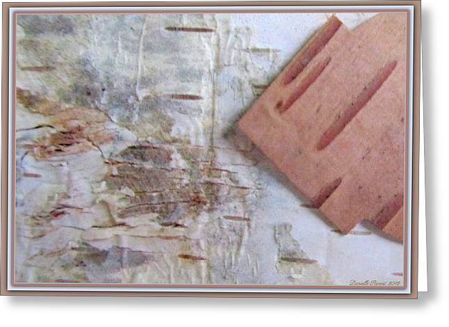 Normand's  Birch Bark  Greeting Card by Danielle  Parent