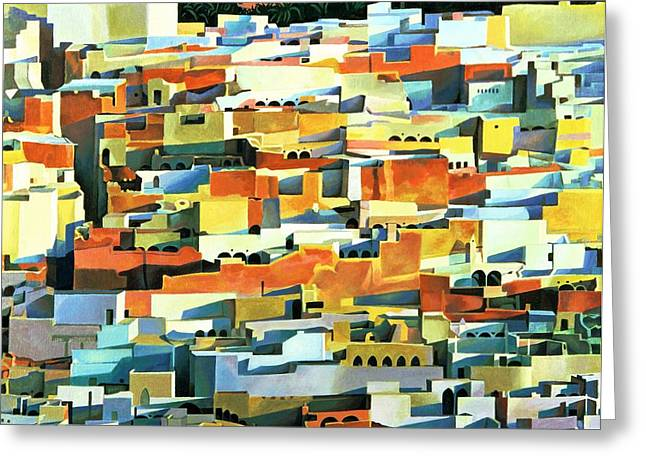 Cramped Greeting Cards - North African Townscape Greeting Card by Robert Tyndall