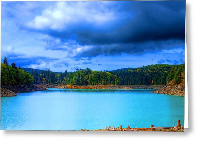 Hdr Landscape Greeting Cards - North Alder Lake Greeting Card by David Patterson