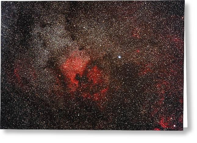 Deneb Greeting Cards - North America Nebula Greeting Card by Eckhard Slawik