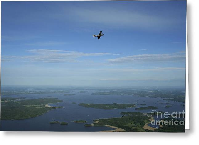 Space-plane Greeting Cards - North American P-51 Cavalier Mustang Greeting Card by Daniel Karlsson