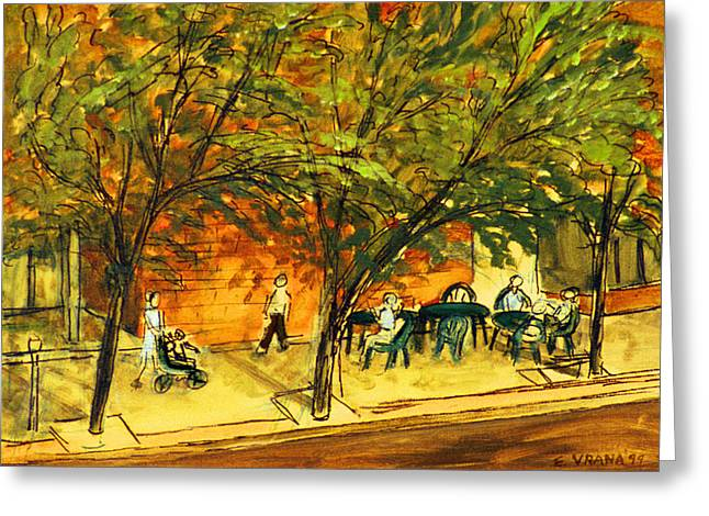 Ithaca Greeting Cards - North Aurora Street Ithaca New York Greeting Card by Ethel Vrana