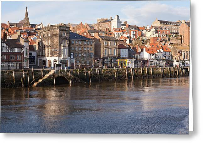 Abbey Giclee Print Greeting Cards - North bank Greeting Card by Gary Finnigan