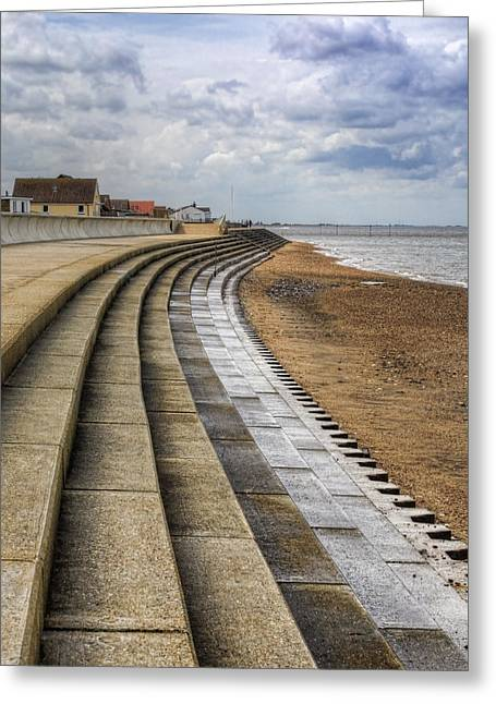 Sunny Beach Waves Greeting Cards - North Beach Heacham Norfolk Greeting Card by John Edwards