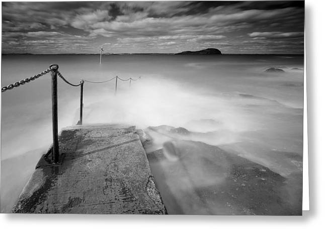 Caost Greeting Cards - North Berwick Harbour Greeting Card by Keith Thorburn LRPS