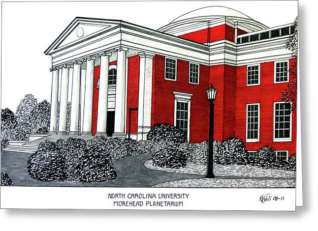 Pen And Ink Framed Prints Greeting Cards - North Carolina Greeting Card by Frederic Kohli