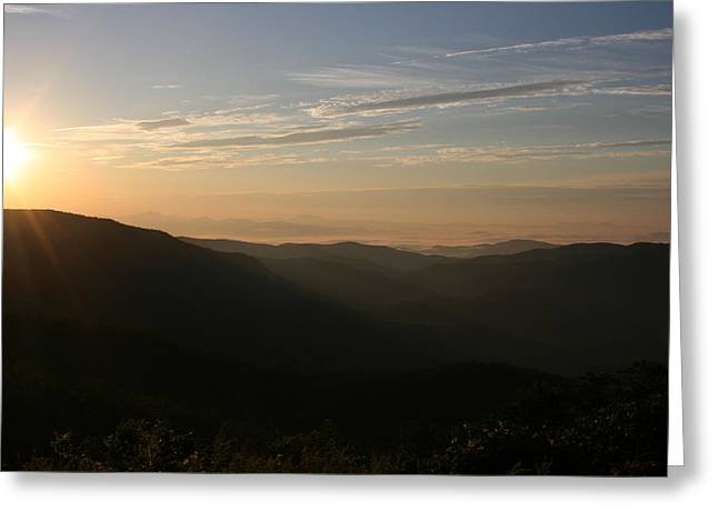 Stacy Bottoms Greeting Cards - North Carolina Morning Greeting Card by Stacy C Bottoms