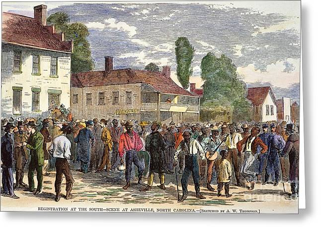 Voting Rights Greeting Cards - North Carolina: Vote, 1867 Greeting Card by Granger