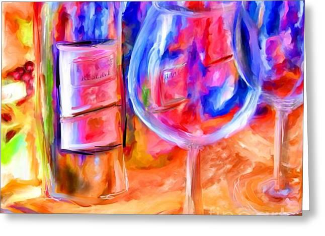 Best Sellers -  - Marilyn Sholin Greeting Cards - North Carolina Wine Greeting Card by Marilyn Sholin