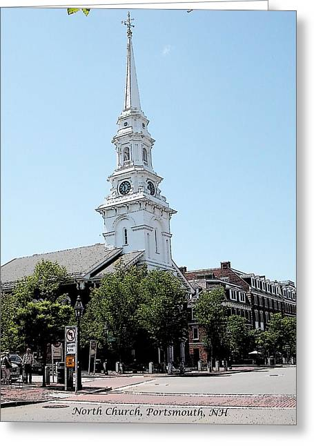 Weathervane Digital Art Greeting Cards - North Church Portsmouth NH Greeting Card by Nina-Rosa Duddy