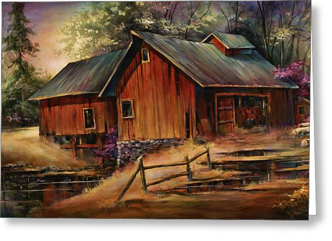 North Country Greeting Card by Michael Lang