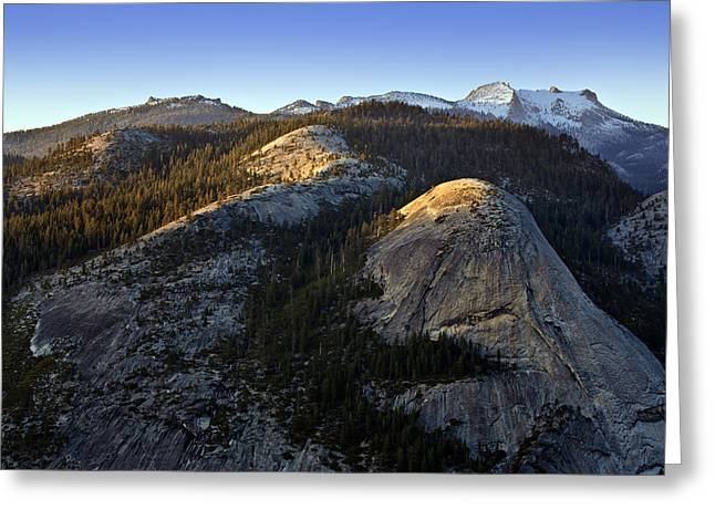 Dome Greeting Cards - North Dome at Sunset Greeting Card by Rick Berk