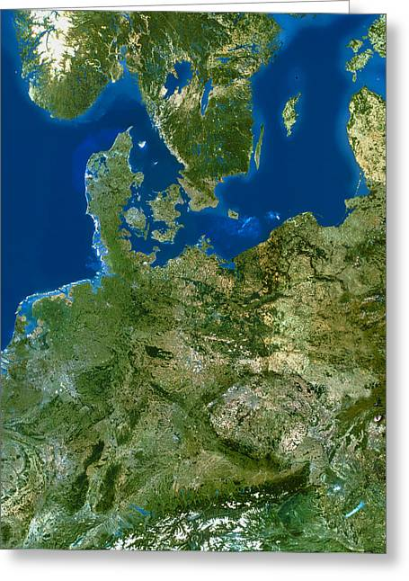 Jylland Greeting Cards - North-eastern Europe Greeting Card by Planetobserver