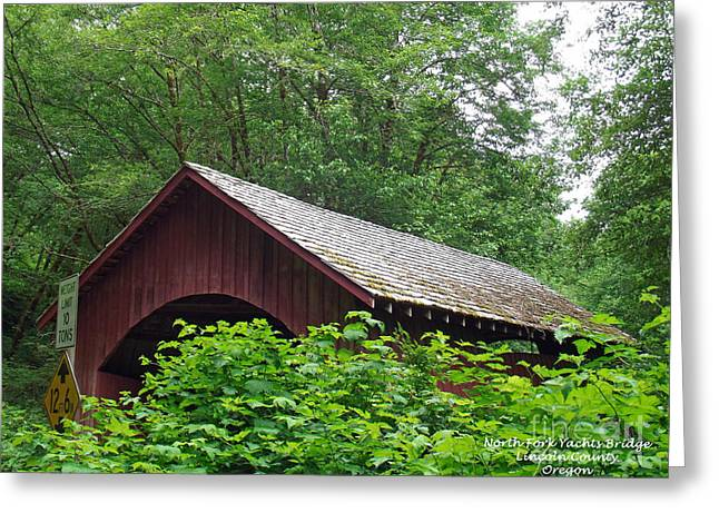 Yachats Greeting Cards - North Fork Yachats Bridge 1 Greeting Card by Methune Hively