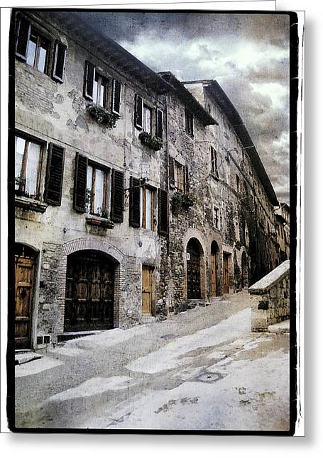 Metal Pyrography Greeting Cards - North Italy  Greeting Card by Mauro Celotti