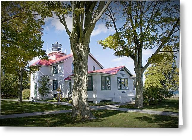 North Point Greeting Cards - North Point Lighthouse in Grand Traverse Bay Michigan Number 287 Greeting Card by Randall Nyhof