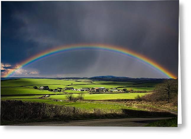 North Poorton Rainbow Greeting Card by Kris Dutson