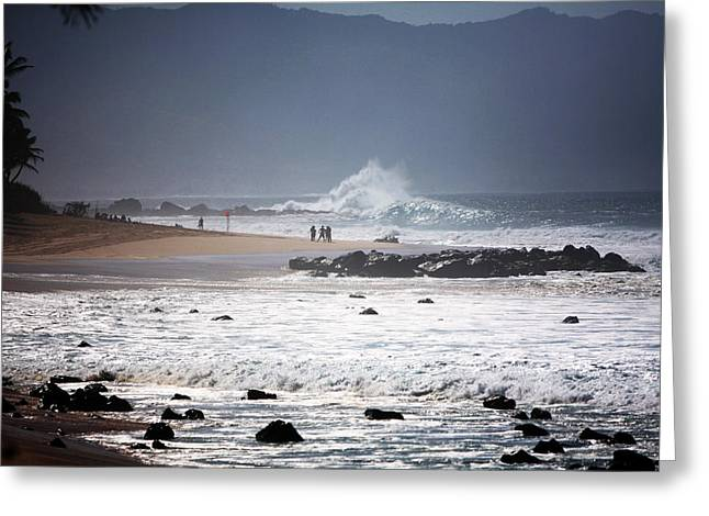 North Shore Greeting Cards - North Shore Huge Surf Greeting Card by Ty Helbach