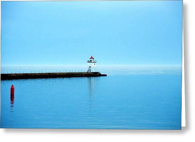 North Shore Lighthouse Greeting Card by Bridget Johnson