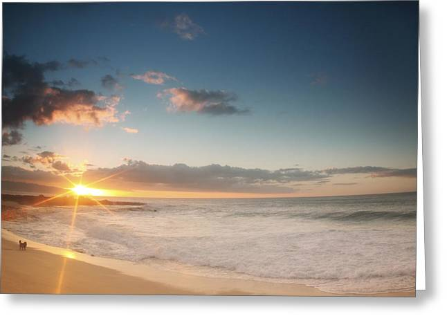 Destiny Greeting Cards - North Shore Oahu Sunset Greeting Card by Vince Cavataio - Printscapes