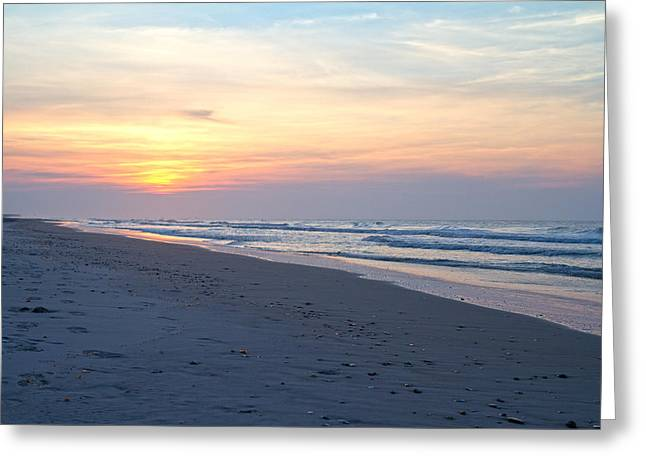 Muted Greeting Cards - North Topsail Beach Serenity  Greeting Card by Betsy C  Knapp