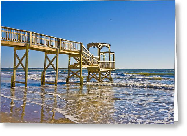 Topsail Island Greeting Cards - North Topsail Island Greeting Card by Betsy A  Cutler
