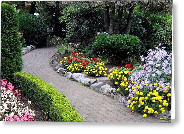 North Vancouver Photographs Greeting Cards - North Vancouver Garden Greeting Card by Will Borden