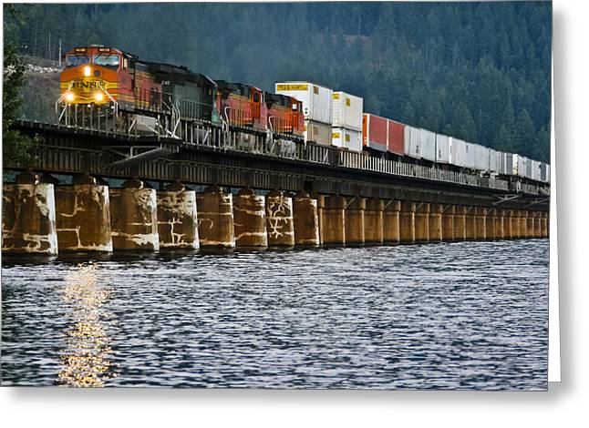 Lake Pend Oreille Greeting Cards - Northbound at Dusk Greeting Card by Albert Seger