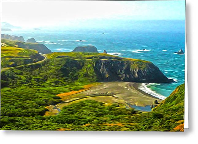 Gregory Dyer Greeting Cards - Northern California Coast - 01 Greeting Card by Gregory Dyer
