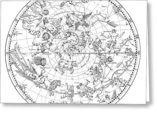 Northern Celestial Map Greeting Card by Science, Industry & Business Librarynew York Public Library