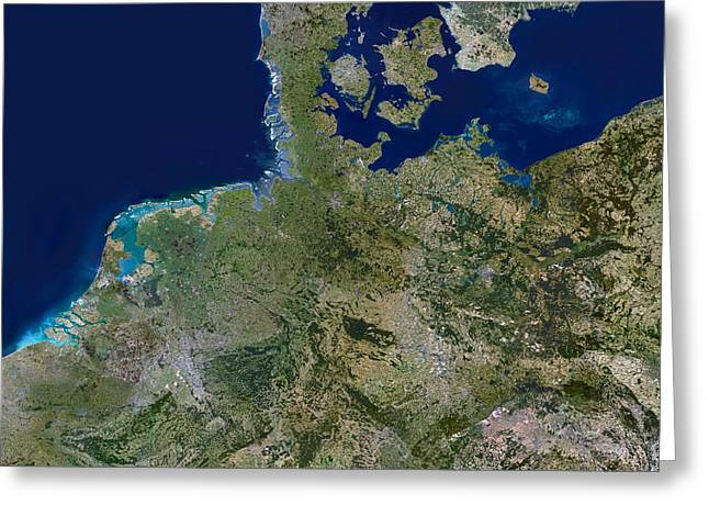 Land Use Greeting Cards - Northern Germany Greeting Card by Planetobserver