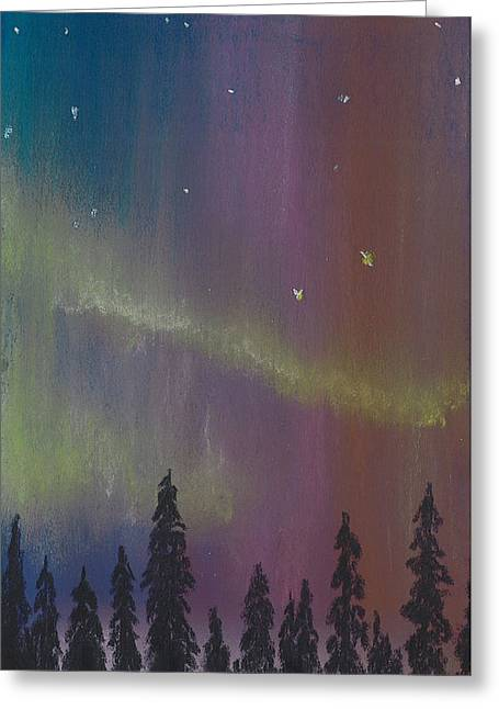 Amazing Pastels Greeting Cards - Northern Lights before Sunrise Greeting Card by Jackie Novak
