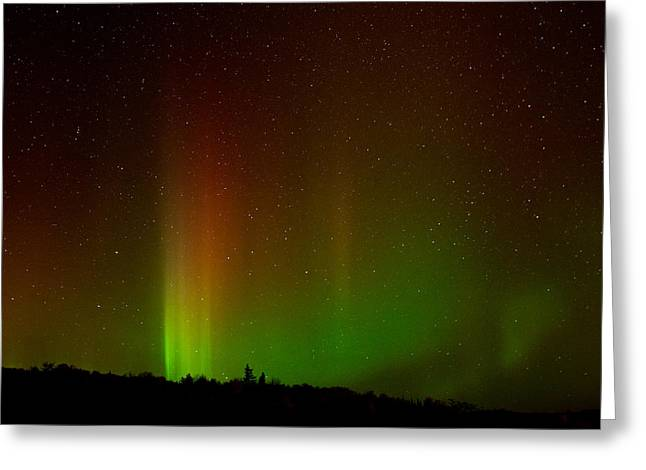 Aurora Greeting Cards - Northern Lights Greeting Card by Cale Best