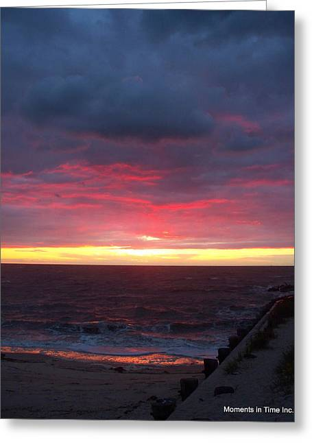 Color_image Greeting Cards - Northern Lights in Cape May Greeting Card by Glenn McCurdy
