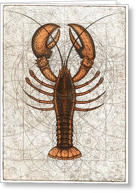 American Food Greeting Cards - Northern Lobster Greeting Card by Charles Harden