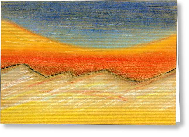 Expressionist Pastels Greeting Cards - Northern Midnight Greeting Card by Hakon Soreide