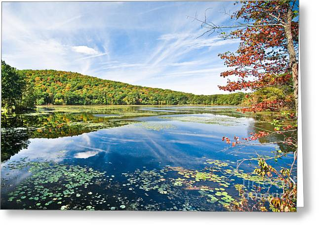 Ryan Kelly Greeting Cards - Northern New Jersey Lake Greeting Card by Ryan Kelly