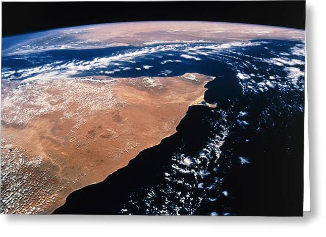 Northern Africa Greeting Cards - Northern Somalia & Gulf Of Aden From Space Sts-55 Greeting Card by Nasa