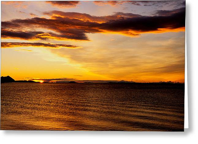 Lightscapes Greeting Cards - Northern Sunset Greeting Card by Hakon Soreide