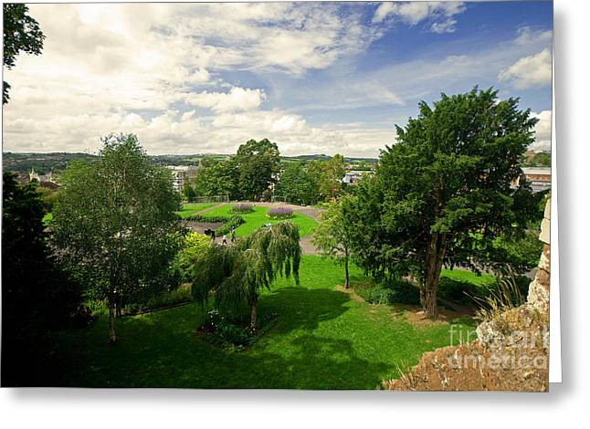 Exeter Greeting Cards - Northernhay Gardens  Greeting Card by Rob Hawkins