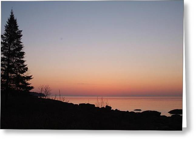 Superior Sunrise Greeting Cards - Northshore Morning.. Greeting Card by Al  Swasey