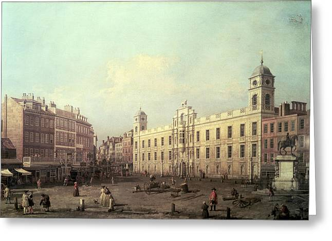 1768 Greeting Cards - Northumberland House Greeting Card by Canaletto