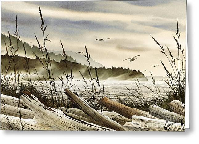 Maritime Print Greeting Cards - Northwest Shore Greeting Card by James Williamson